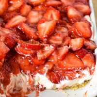 Strawberry Delight No Bake Dessert