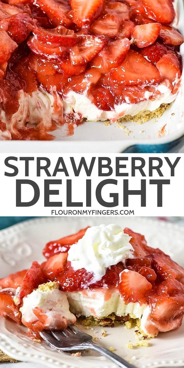 strawberry delight no bake dessert recipe