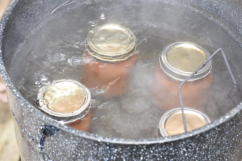 canning apple butter in water bath canner