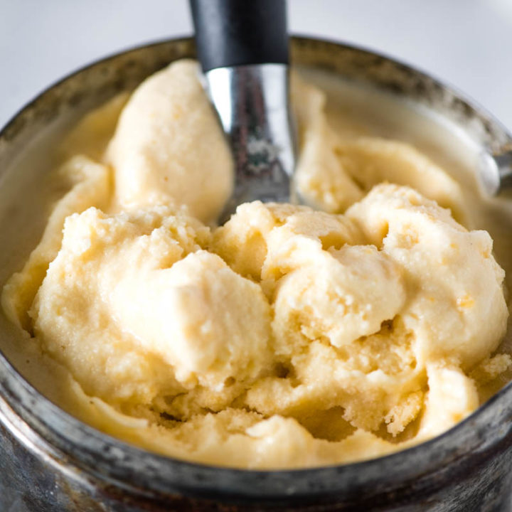 Old-Fashioned Homemade Peach Ice Cream