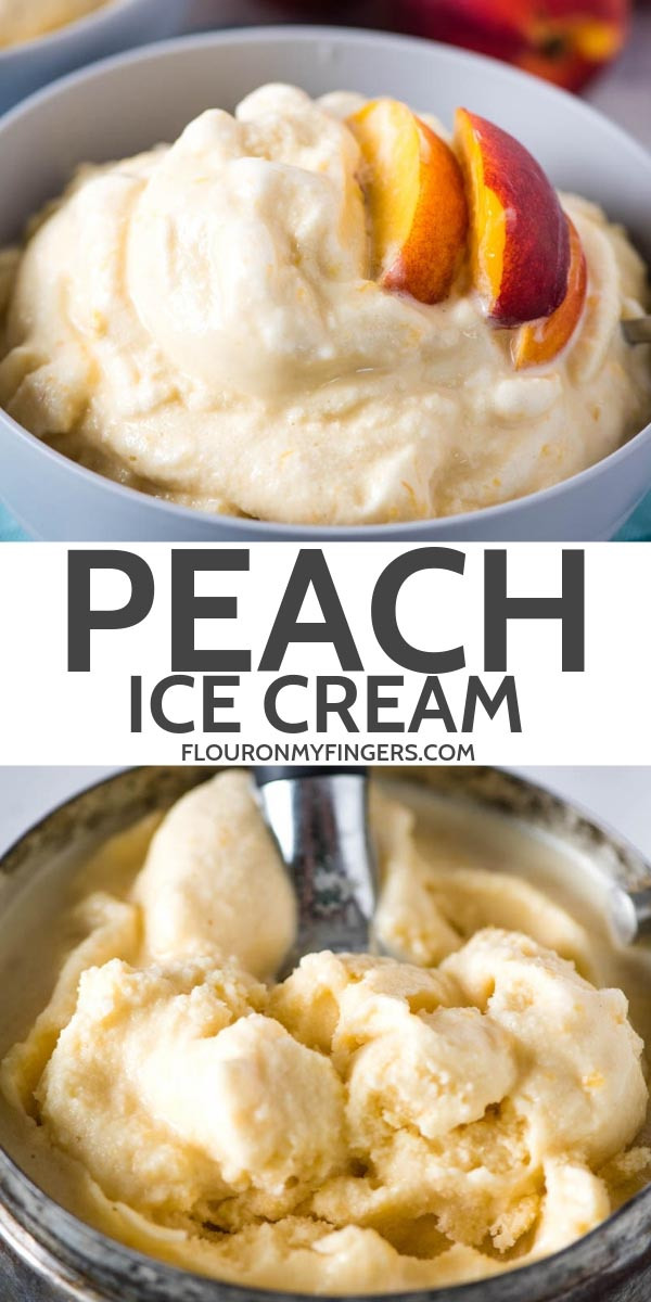 old-fashioned homemade peach ice cream recipe