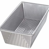 USA Bakeware Aluminized Steel 1 1/2 Pound Loaf Pan, Large