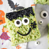 Easy Frankenstein Rice Krispie Treats