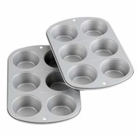 Wilton Recipe Right Non-Stick 6-Cup Standard Muffin Pan, Set of 2