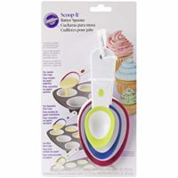 Wilton Scoop-It Batter Spoons, Set of 3