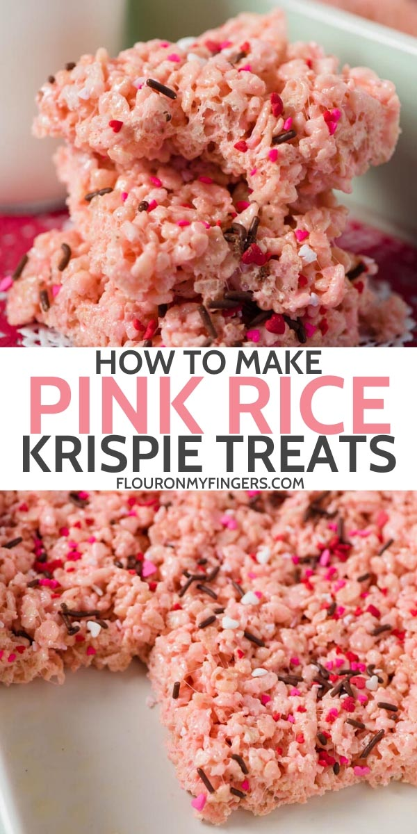 pink Rice Krispie treats recipe