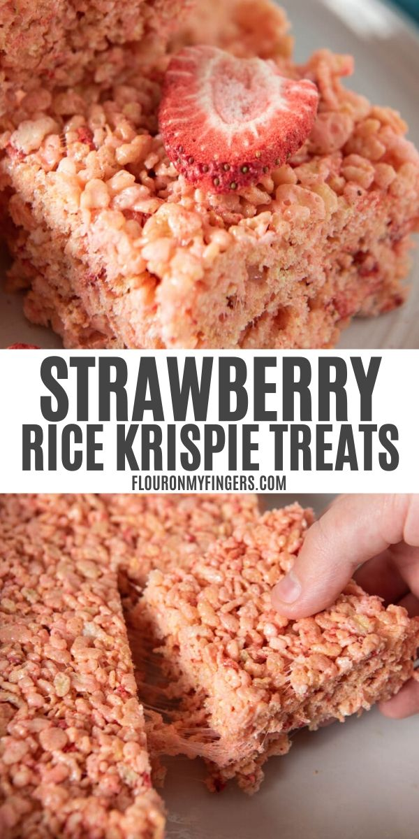 strawberry Rice Krispie treats recipe