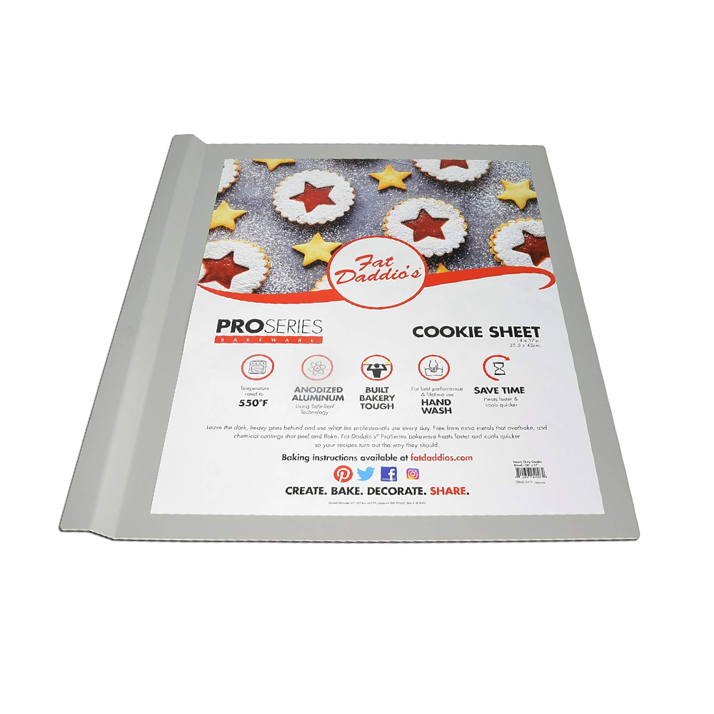 "Fat Daddio's Heavy Duty Anodized Aluminum Cookie Sheet, 14""x17"""