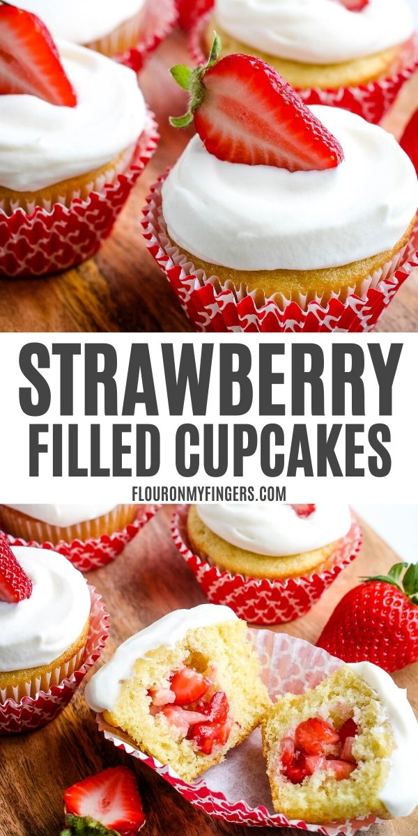 strawberry filled cupcakes recipe